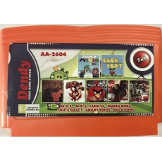 7в1 Картридж Dendy AA-2604 М.К.5(30 р.)+М.К.3(28 р.)+TANK 90+MARIO BROS+CHIP & DALE+ANGRY BIRD+DUCK HUNT